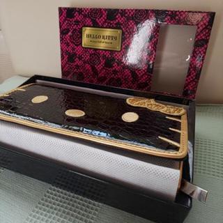 ◆非売品 ハローキティ 長財布 クロコダイル調 金刺繍 HEL...