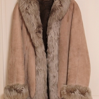 ムートン毛皮 コート ジャケット スペイン製