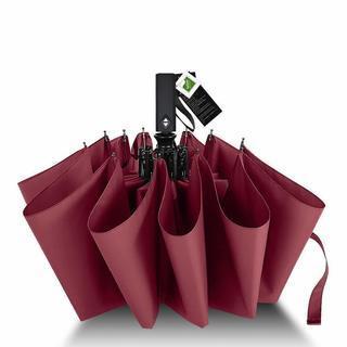 折りたたみ傘 自動開閉 大きめ 傘ケース付き(レッド)