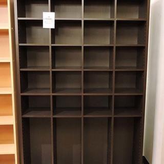 北大前! 札幌 引取り 大型本棚 書棚 ラック 棚 ダークブラウン...