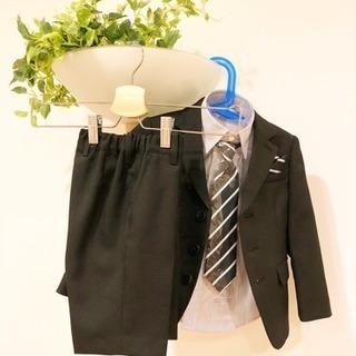 【美品】100cm男児スーツ5点セット+靴+靴下+ベスト
