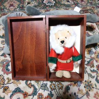 クリスマス テディベア リトルサンタ 木箱入り