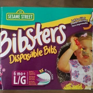 使い捨てお食事エプロン セサミストリート ビブスター