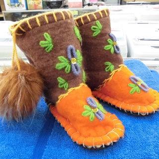 新品 北欧 Woolenstocks Boots ルームシ…
