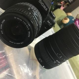 SIGMA.SA-7。レンズ2つセット、完全ジャンク品