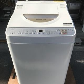 極上美品 2018年 洗濯機 シャープ 乾燥付き 5.5kg洗い ...