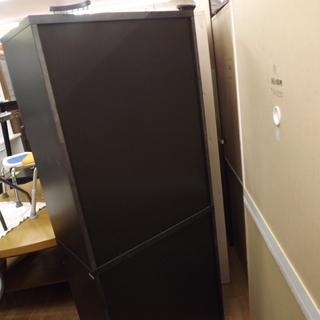 食器棚 キッチン収納 木製 扉付き 幅:68cm ダークブラウン 札幌 西岡店  - 札幌市