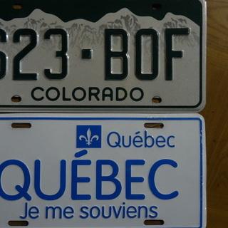 アメリカ/カナダ ナンバープレート2枚 インテリアに アメカジ