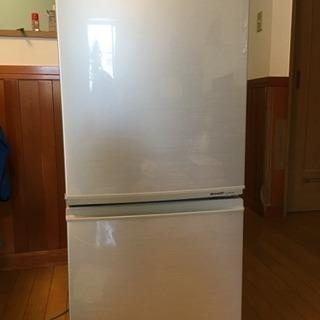 【値下げ】SHARP 冷蔵庫 SJ-PD14W-S プラズマクラ...