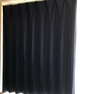 紺色の遮光カーテン(3)高さ130センチ×幅100センチ×1枚