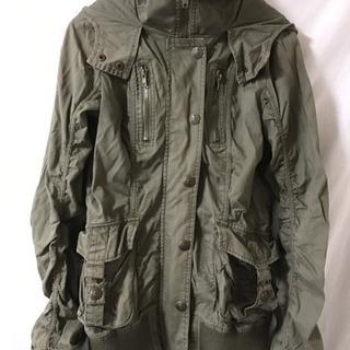 ミリタリージャケット Mサイズ レディース 中古 フード付き