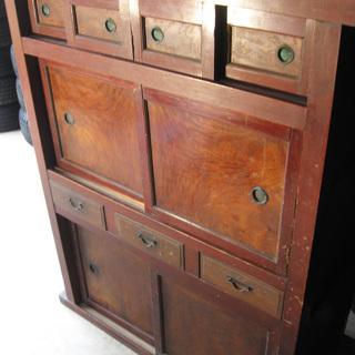 昭和レトロ 金沢水屋箪笥 食器棚 古民具