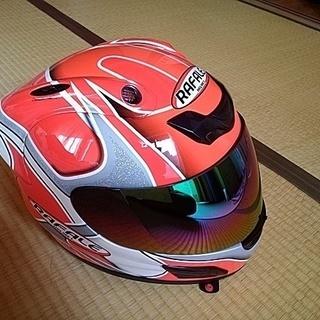 ヘルメット メーカー:RAFALE サイズ:XL カラー:赤