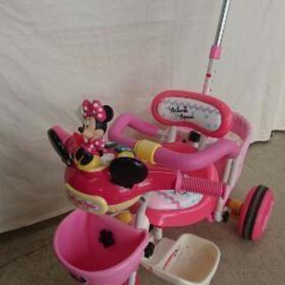 ミニーちゃんの三輪車 音鳴ります。押し棒でハンドル操作できます。