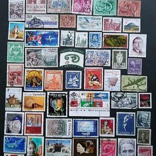 使用済みの外国切手286枚です。