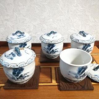 蒸し椀(茶碗蒸し用)揃い 5客