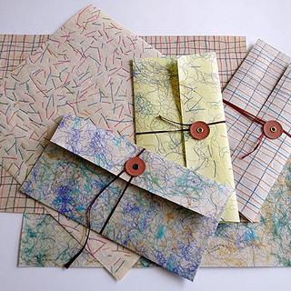 本のワークショップ「和紙と糸でつくるオリジナルクロス」
