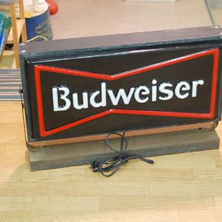 Budweiser/バドワイザー 電飾 看板 店舗販促品 ディスプ...