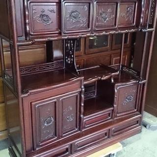 茶箪笥  水屋箪笥 コレクションボード 飾り棚 花梨 茶道