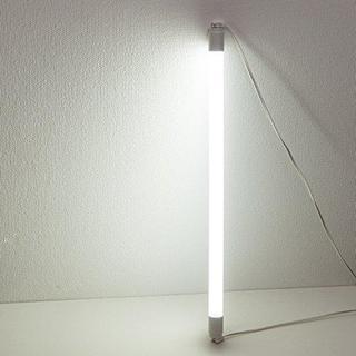 【新品】LED蛍光灯 直菅20W型グロー式工事不要昼白色1本