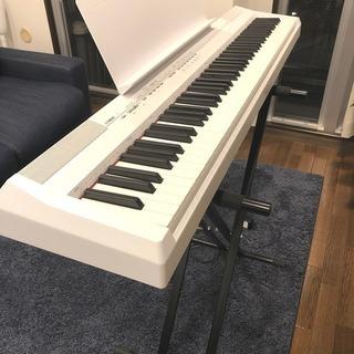 YAMAHA 電子ピアノ P-105WH スタンド付き