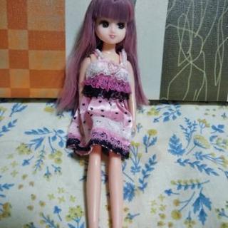 リカちゃん人形 髪むらさき色ヘアー ドレス込み③