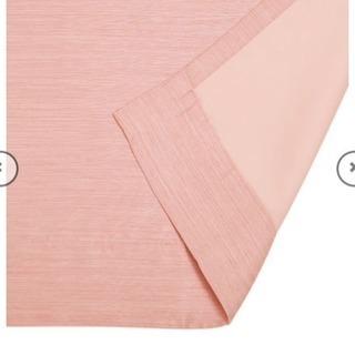 カーテン いちごみるく色