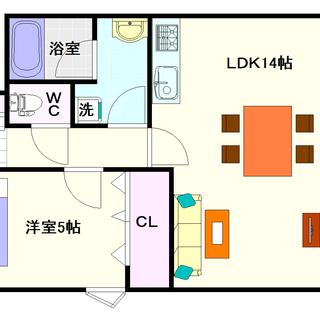 【サウスパラジェ】1号タイプ!1LDKタイプ!明るいお部屋で住みやすい☆