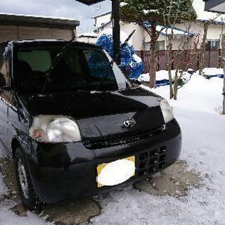 【急募】ダイハツエッセ黒 走行距離4万以下!4WD!夏冬タイヤ両...