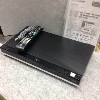 HDD1TB内臓 BDレコーダー SHARP 2015年製 BD-T1800の画像