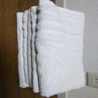 白バスタオル5枚 白 60cm×120cm USED