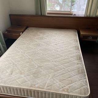 ダブルベッド あげます。
