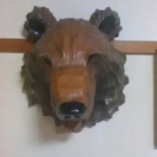 熊の壁掛け
