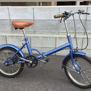 ■ブルーの折り畳み自転車 16インチ