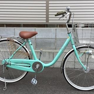 美品車・ママチャリ・24インチ・自転車・ステンレスカゴ