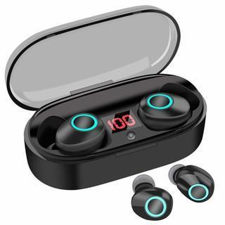 Bluetooth 5.0ワイヤレスイヤホン LEDディスプレイ...