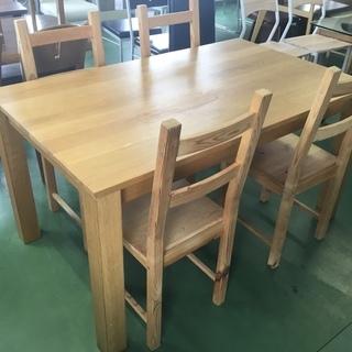 現状品!木製 4人掛けダイニングセット ダイニング テーブル 椅子...