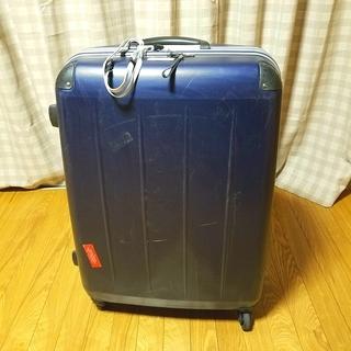 スーツケース 青 約70L(高さ70cm)