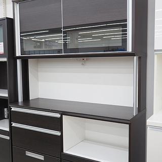 ニトリ 大型食器棚 キッチンボード ゼータ140   ブラウン
