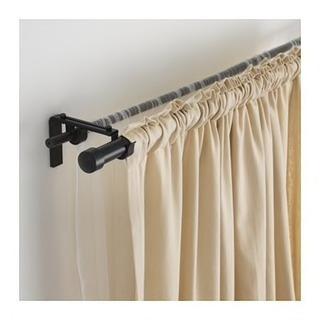 IKEA カーテンロッドとロッド取り付け部品セット