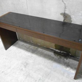木製ガラス天板スマートデスク『美品中古』【リサイクルショップサルフ】