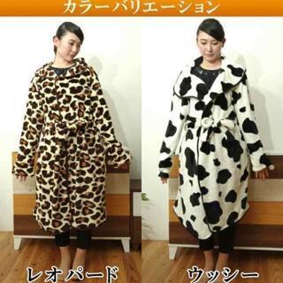 お譲り先決定 牛柄フランネル着る毛布 ルームウェア