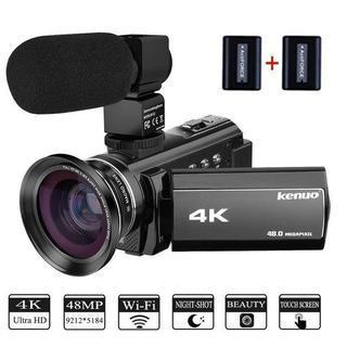 新品4k デジタルビデオカメラ 48MP WIFI機能 3イン...