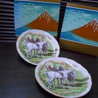 未使用!!有田焼 深川製磁 2002年「午年」飾り皿