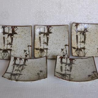 陶器小皿5枚セット 専用木箱付