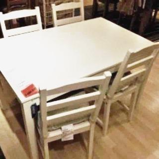 IKEA ◆ダイニングセット 4人掛け イス付