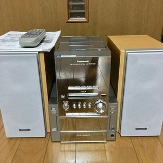 Panasonic CDコンポ (取説・リモコンあり) MD・カ...