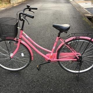 ※終了※【配送無料】【美品】オートライト 自転車 ママチャリ 2...