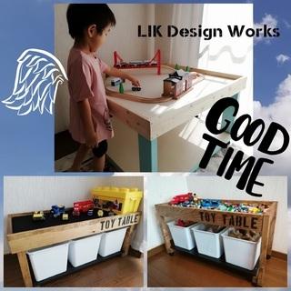 【オーダー】トイテーブル プレイテーブル おもちゃ机