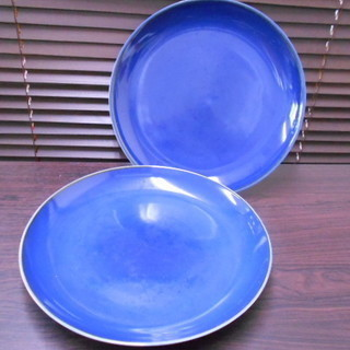 紺色/瑠璃色 大平皿セット